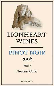 2008 Pinot Noir, Sonoma Coast