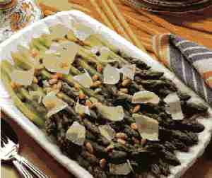 Asparagus with Capers and Pine Nuts